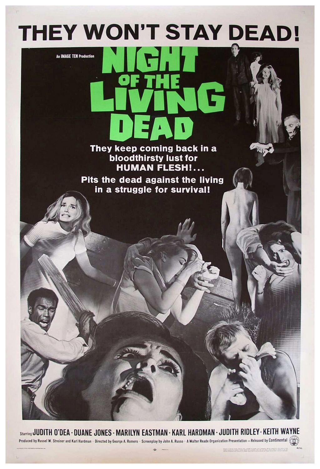 1968   Night Of The Living Dead Movie Poster